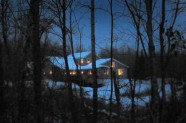 Candle lit house at Magic Pond